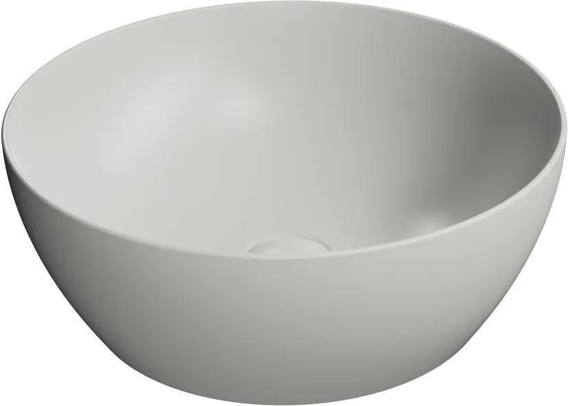 Pura 885117 umývadlo na dosku, priemer 42 cm, cenere mat