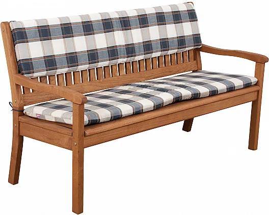 DOPPLER Sedák na trojmiestnu lavicu 3104 KÁRO / SIVÁ