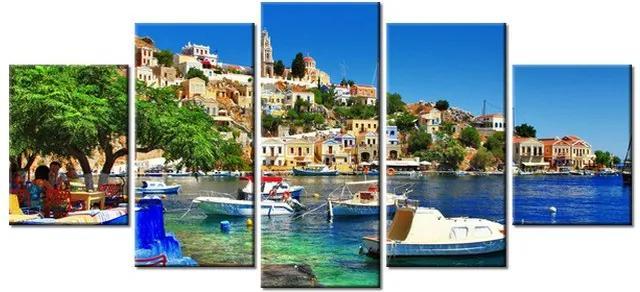 Tlačený obraz Dovolenka na ostrove Symi v Grécku 150x70cm 2239A_5B