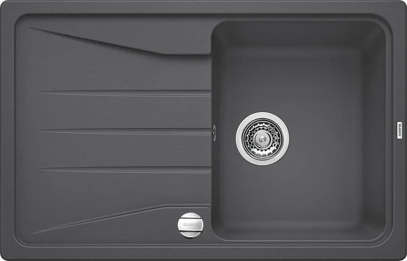 Granitový kuchynský drez - Blanco SONA 45 S sivá skala s excentrom