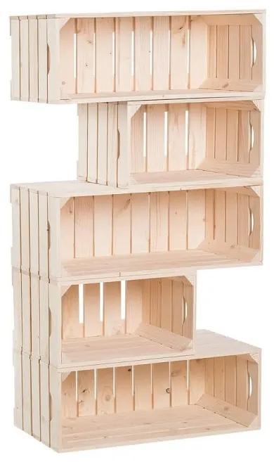 Drevobox Drevené debničky knižnica 150 x 60 x 30 cm