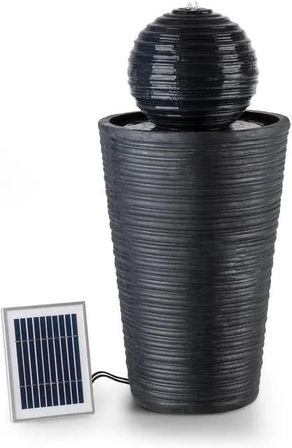 Blumfeldt Liquitorre XL, solárna fontána, 200 l/h, solárny panel, 2 W, akumulátor, LED, polyresin