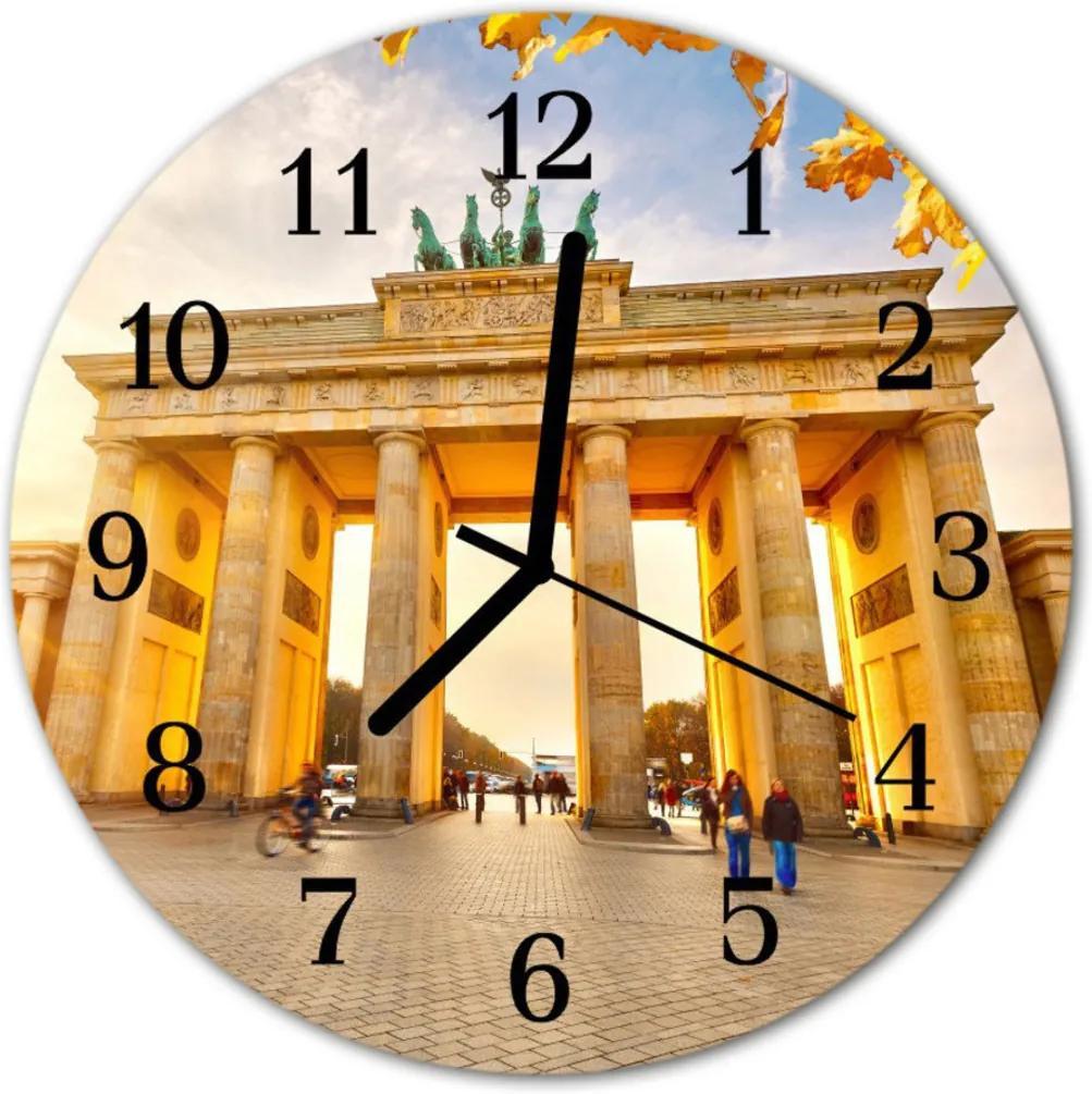 Nástenné skleněné hodiny Berlín