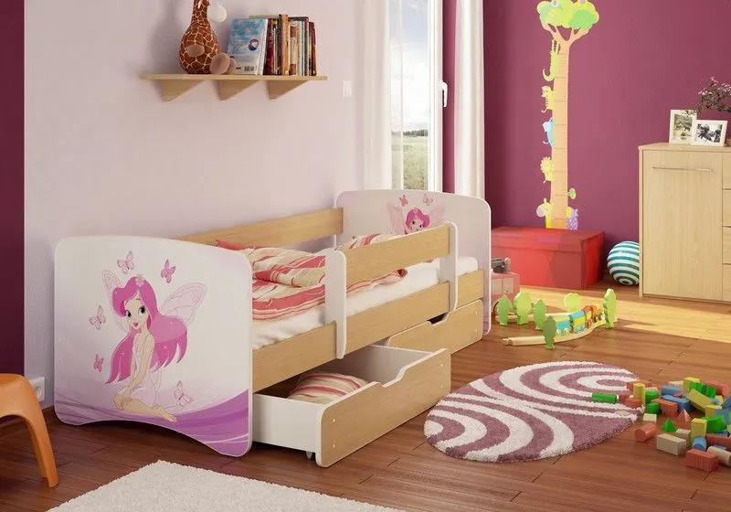 MAXMAX Detská posteľ VÍLA funny 160x90cm - bez šuplíku 160x90 pre dievča NIE