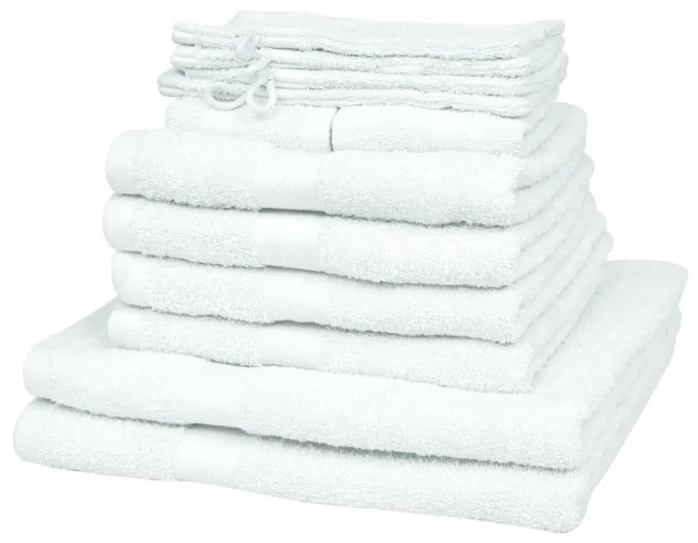 vidaXL Domáce uteráky sada 12 kusov bavlna 500g/m² biele