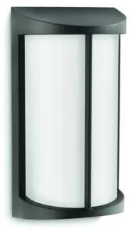 Philips 17229/30/16 Pond exteriérové nástenné svietidlo E27 1x23W so zdrojom IP44, čierna