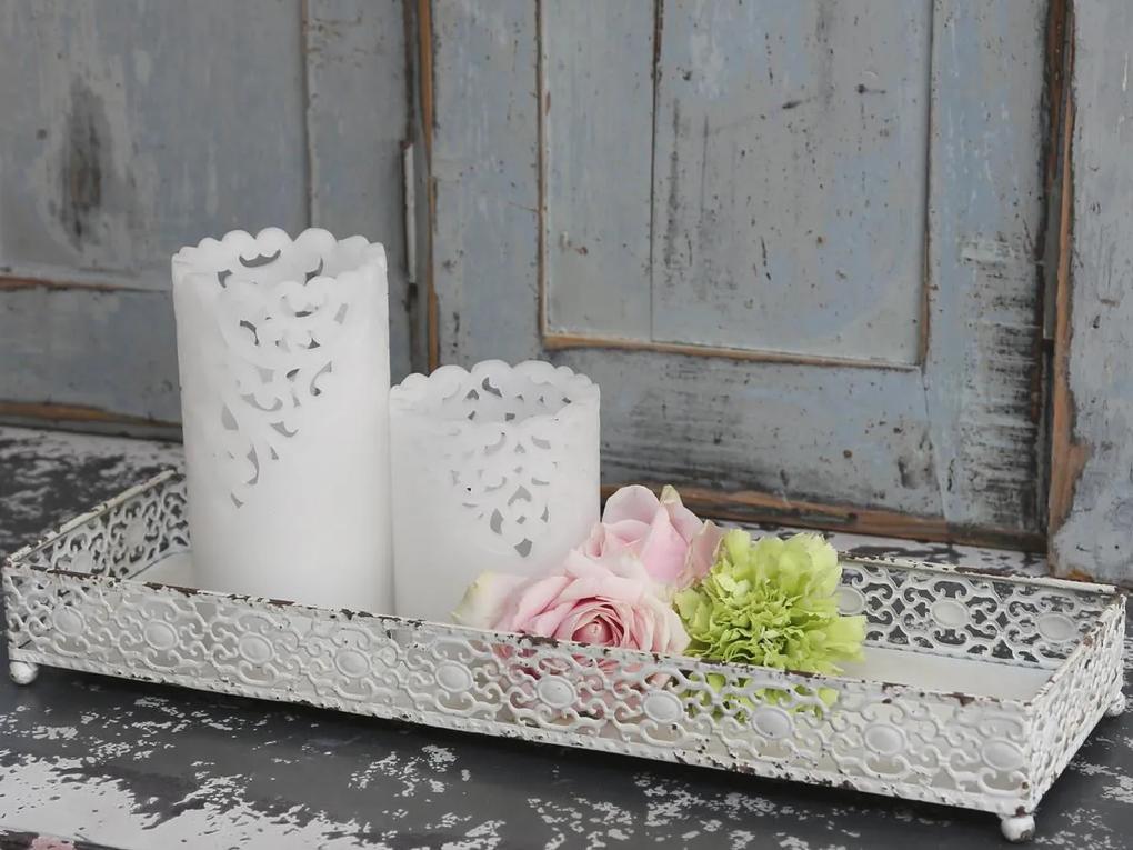 Chic Antique Zinkový podnos Lace white
