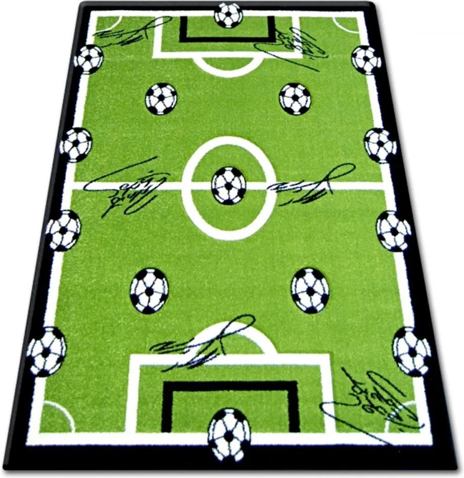 Detský kusový koberec Futbalové ihrisko zelený 2, Velikosti 200x290cm