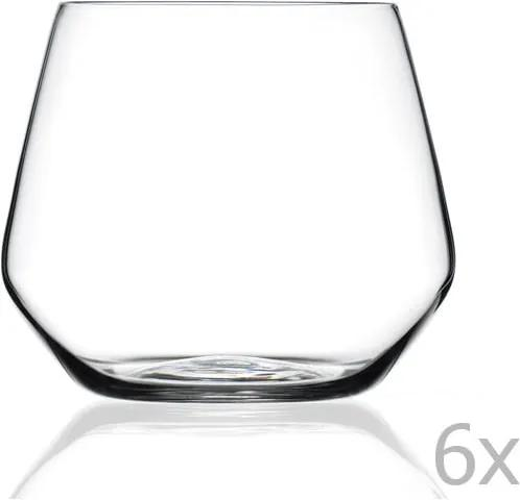 Sada 6 pohárov RCR Cristalleria Italiana Ambra