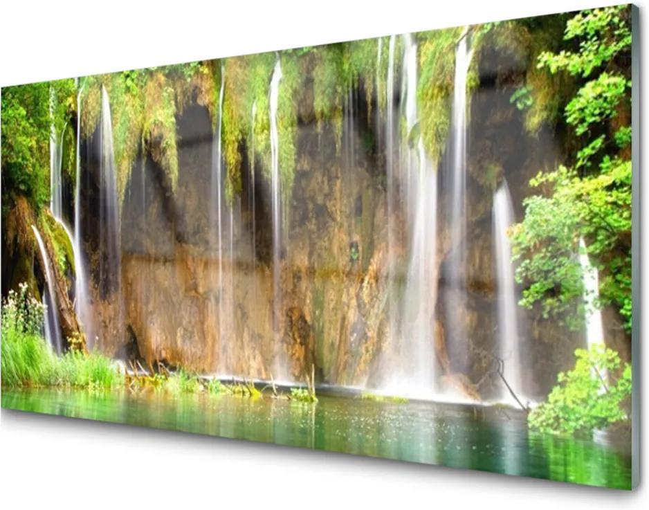 Akrylové obraz Skleněný vodopád příroda