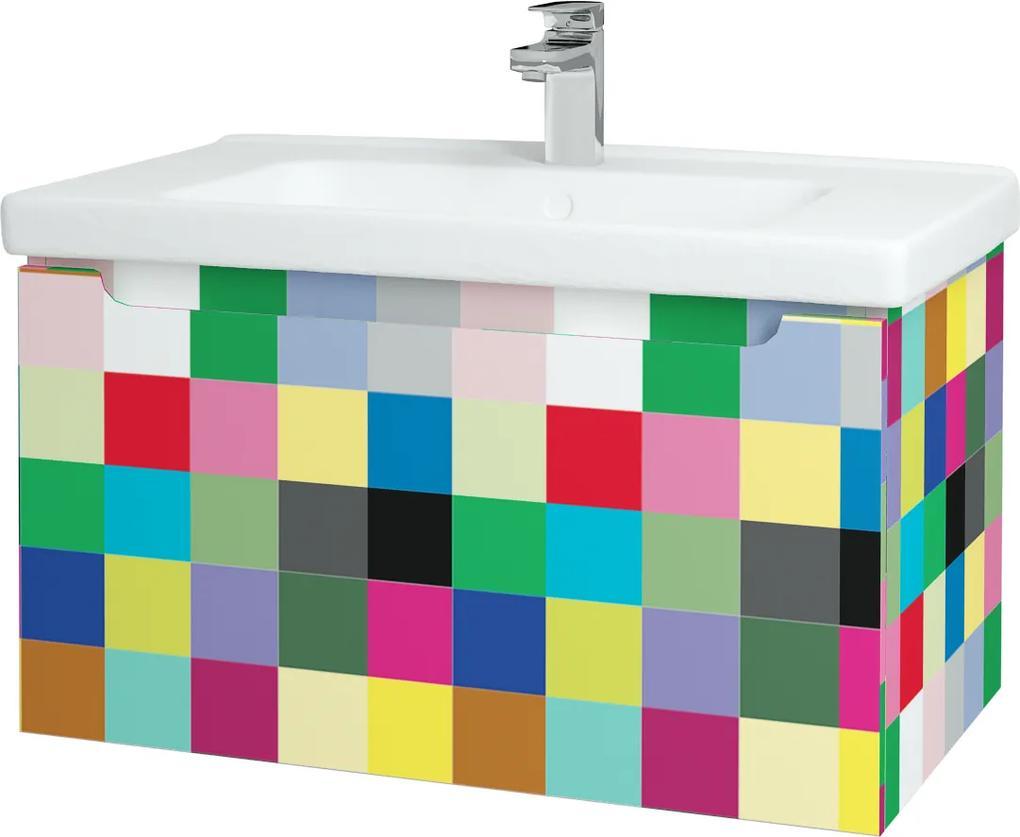 Dřevojas - Koupelnová skříň COLOR SZZ 80 - IND Individual / IND Individual (146634)
