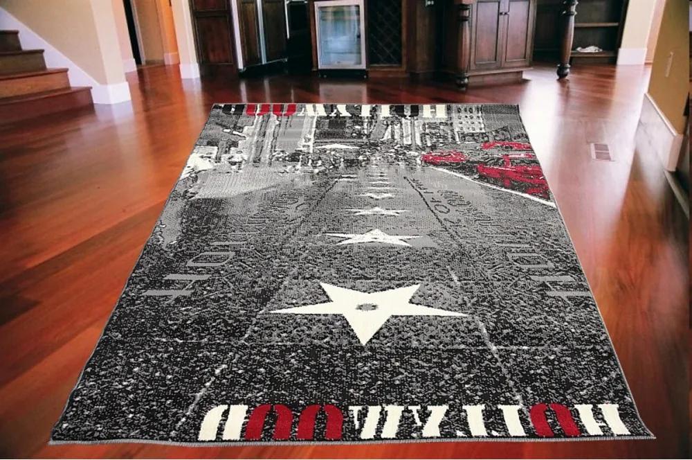 Kusový koberec PP Chodník slávy červenočierny, Velikosti 120x170cm