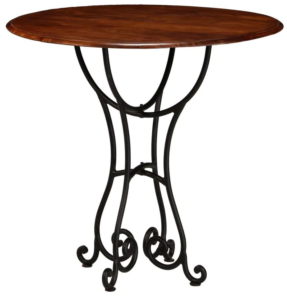 vidaXL Jedálenský stôl akáciové drevo so sheeshamovou úpravou 80x76 cm