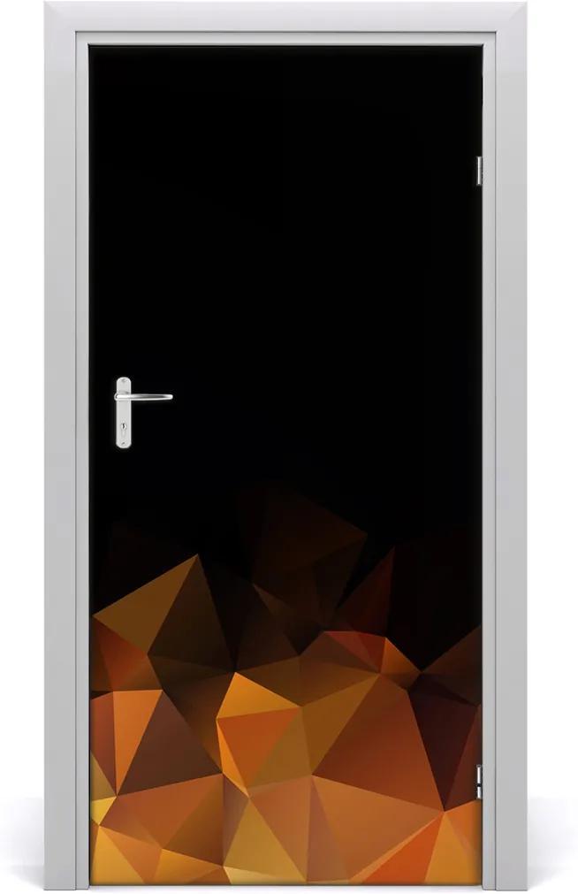 Samolepící fototapeta na dveře Abstraktní trojúhelníky
