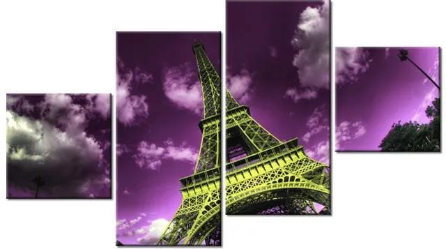 Tlačený obraz Eiffelova veža v Paríži 160x90cm 1565A_4Q