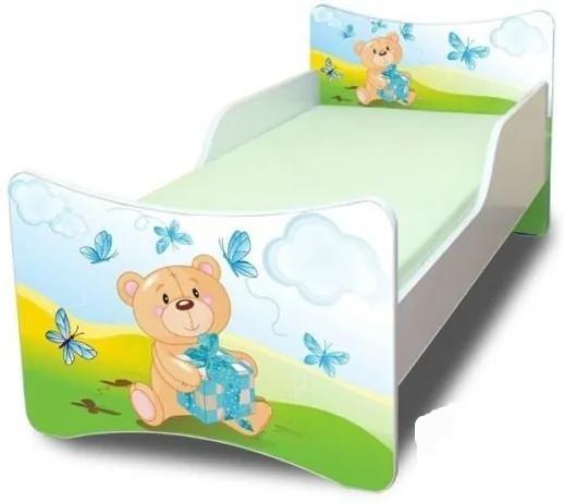 MAXMAX Detská posteľ 160x70 cm - MÍŠA A DARČEK 160x70 pre všetkých NIE