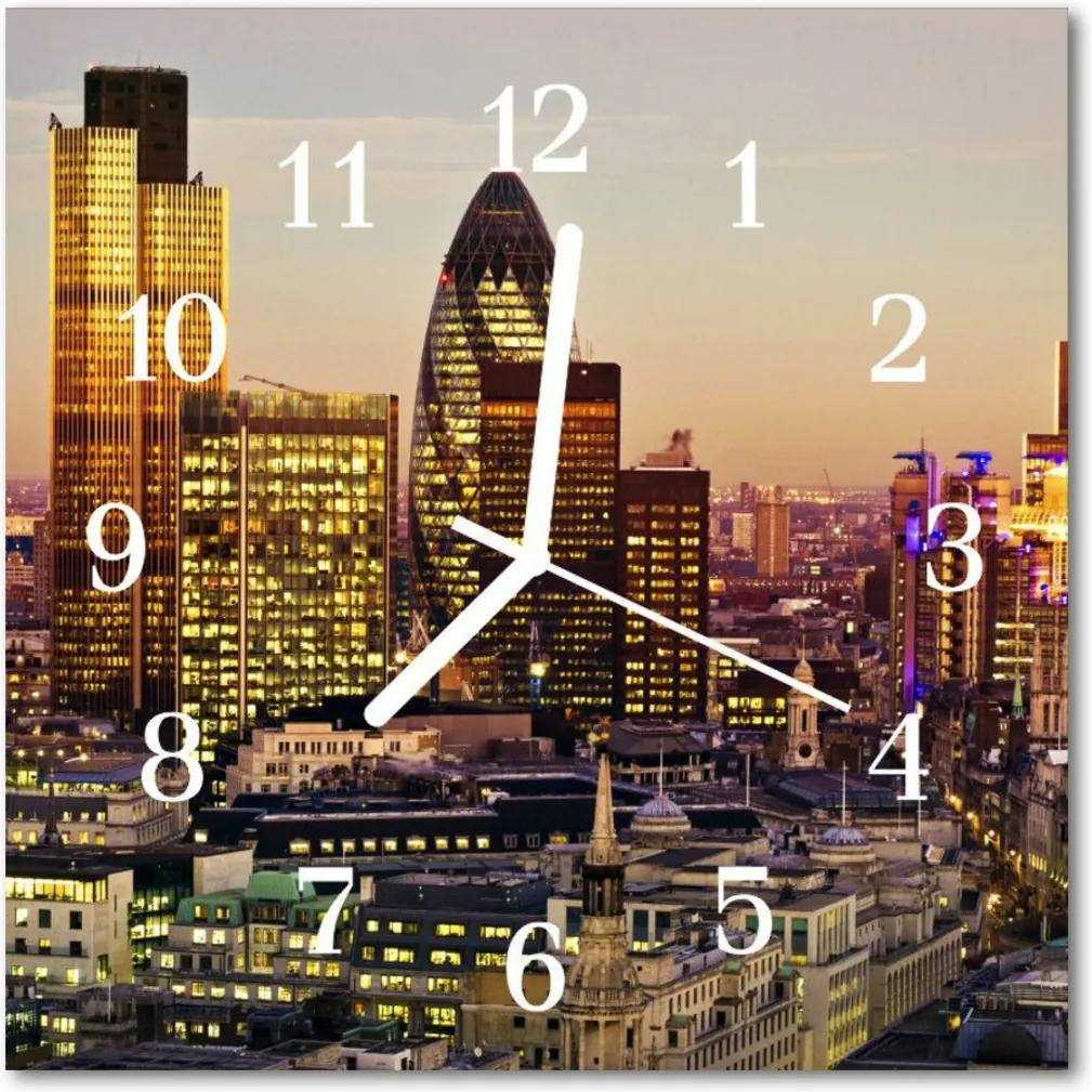 Skleněné hodiny čtvercové Londýn