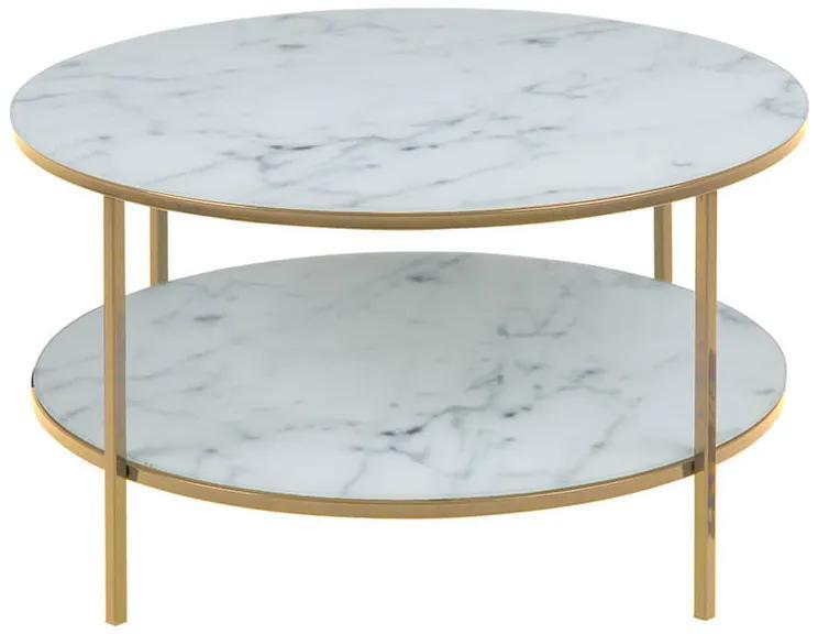 Alisma 2 konferenčný stolík R80 biela / zlatá