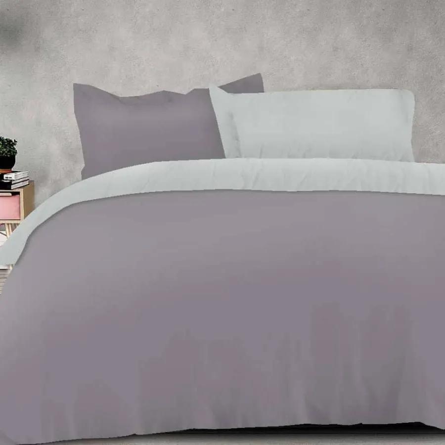 XPOSE ® Bavlněné povlečení na dvě lůžka MICHAELA DUO - tmavě šedá/světle šedá, 140x200, 70x90