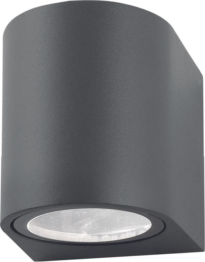 Nova Luce Svietidlo NERO R WALL GREY nástenné, IP 54, GU10 710021