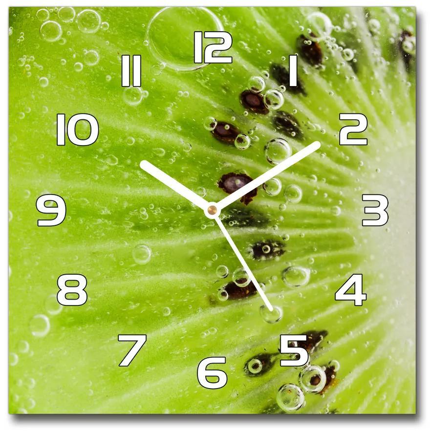 Sklenené nástenné hodiny štvorec Kiwi pl_zsk_30x30_f_67162624
