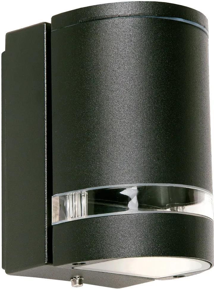 Vonkajšie nástenné svietidlo REDO FOCUS čierny hliník 9811