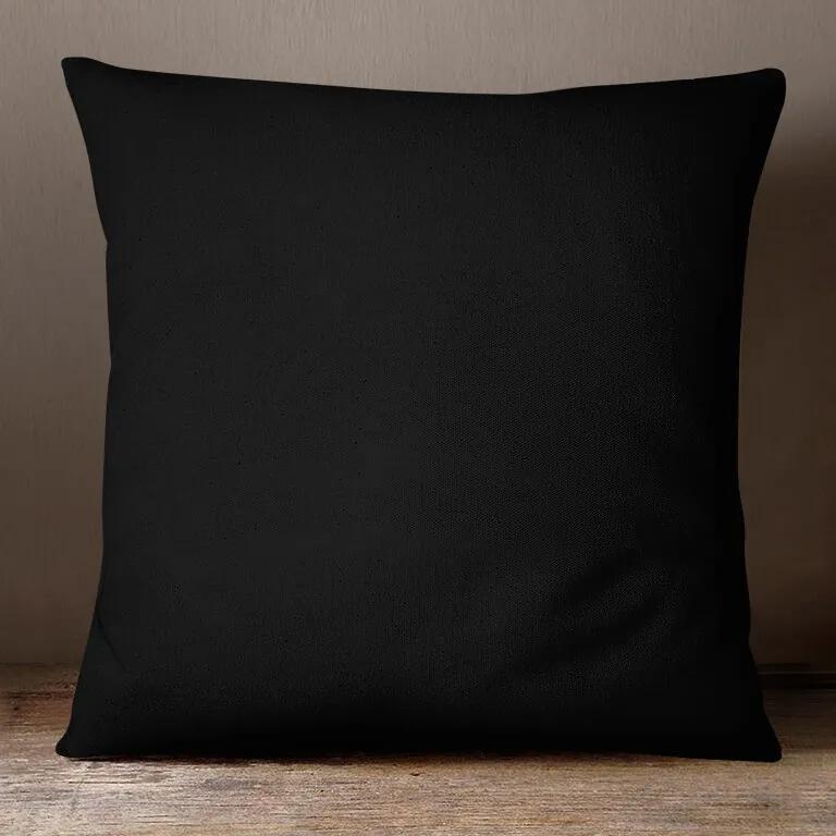 Goldea bavlnená obliečka na vankúš - čierna 40 x 40 cm