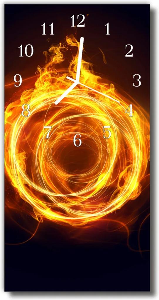 Skleněné hodiny vertikální Barevný ohňový vír