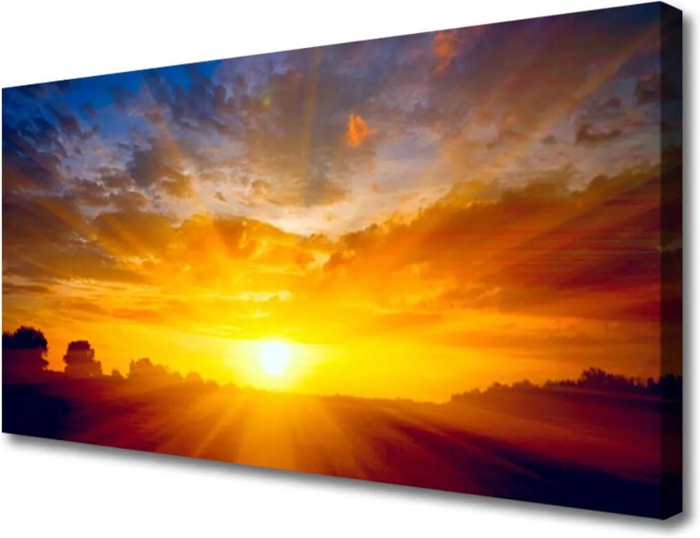 Obraz Canvas Slunce nebe krajina