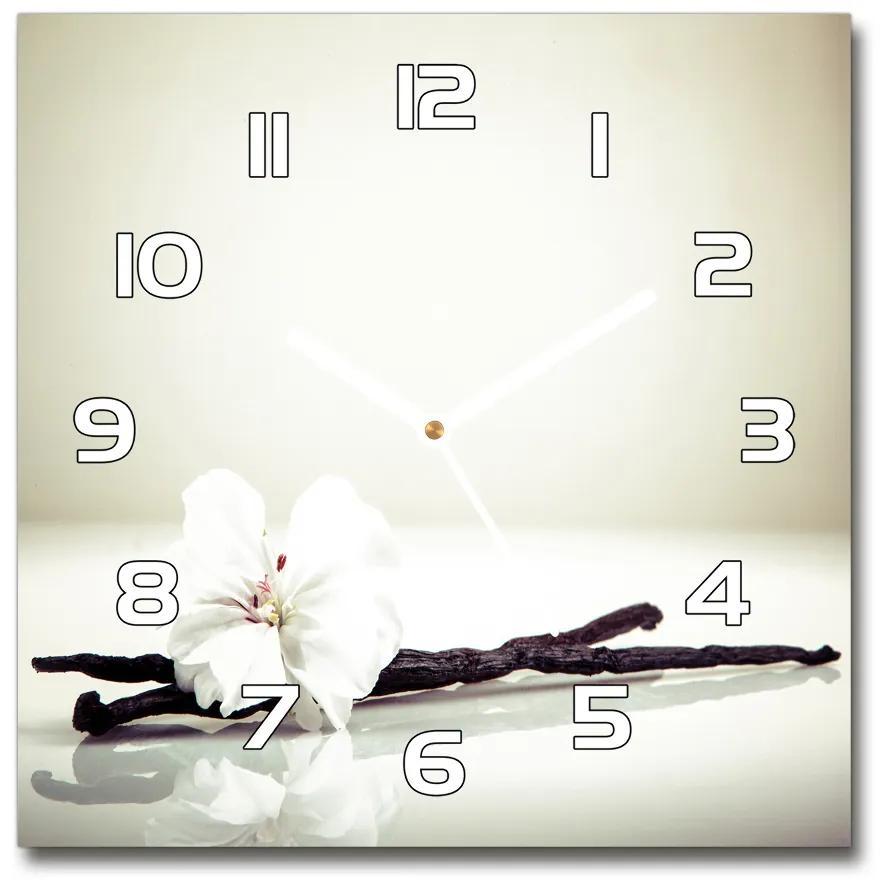 Sklenené hodiny štvorec Vanilka pl_zsk_30x30_f_57124939