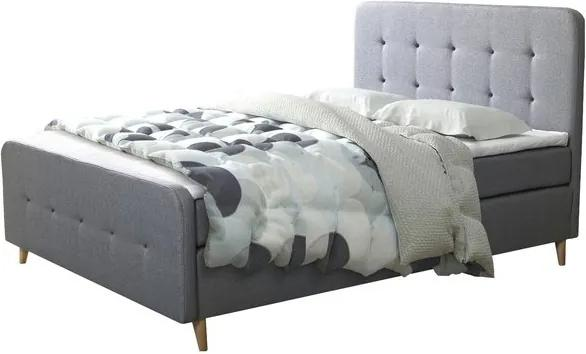 Sconto Posteľ s roštom a matracom SCANDIC sivá