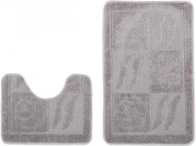 Kúpeľňové predložky 1107 šedé 2 ks, Velikosti 50x80cm