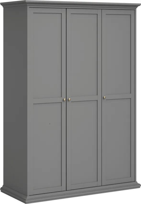 Vešiaková skriňa, sivá, PARIS 75353