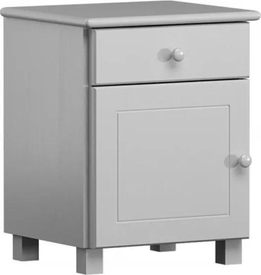 AMI nábytok Borovice noční stolek Margit masiv bílý