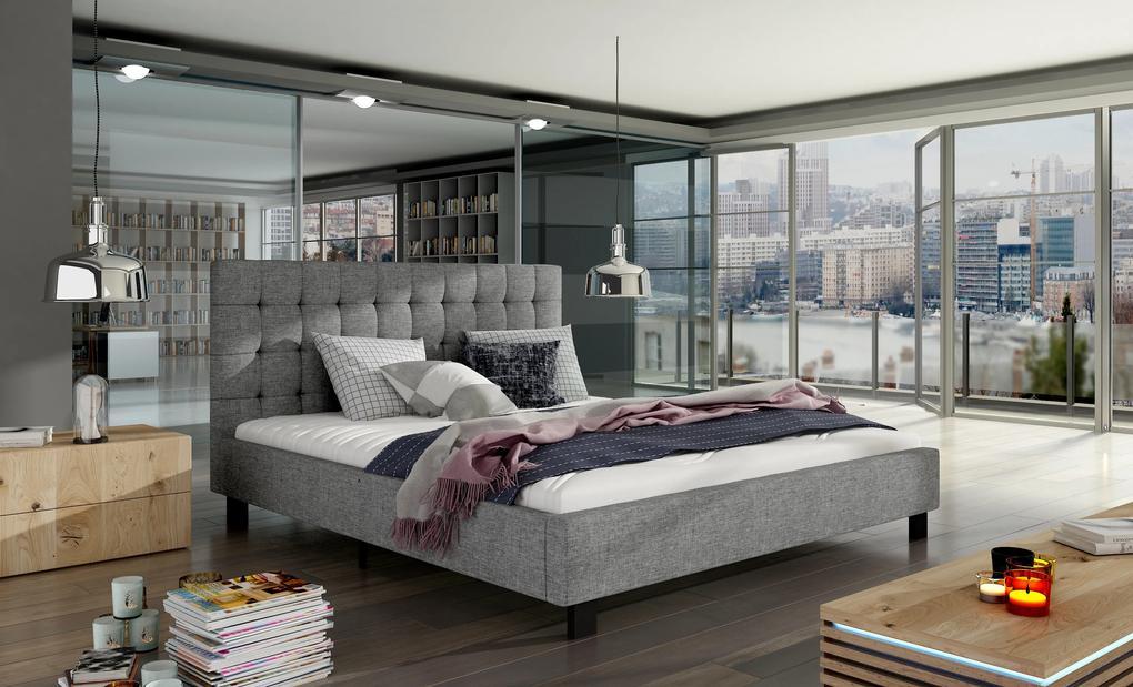 Moderná posteľ Marco 160x200cm, šedá