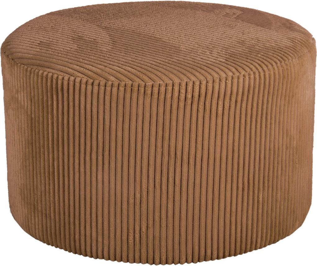 LEITMOTIV Malý menčestrový pieskový taburet Glam