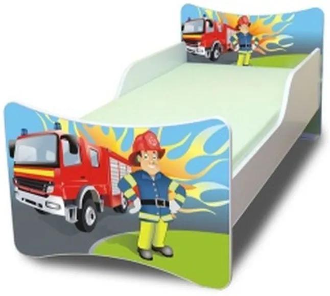 MAXMAX Detská posteľ 200x90 cm - hasič 200x90 pre chlapca NIE