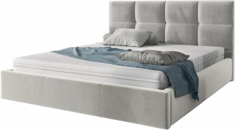 Hector Čalouněná postel Brayden 180x200 dvoulůžko - šedé
