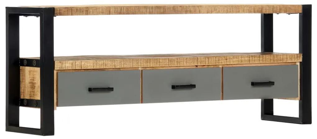 vidaXL TV skrinka 130x30x50 cm masívne mangové drevo
