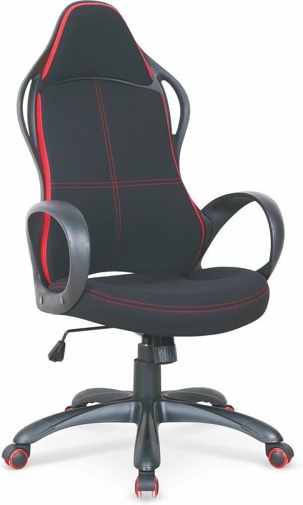 MAXMAX Herný stoličky HILL čierno / červená