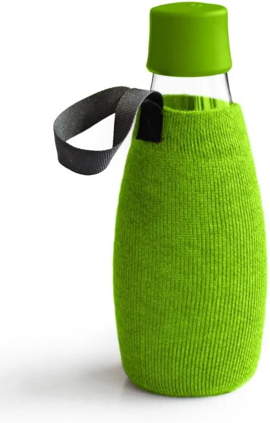 Zelený obal na sklenenú fľašu ReTap s doživotnou zárukou, 500 ml