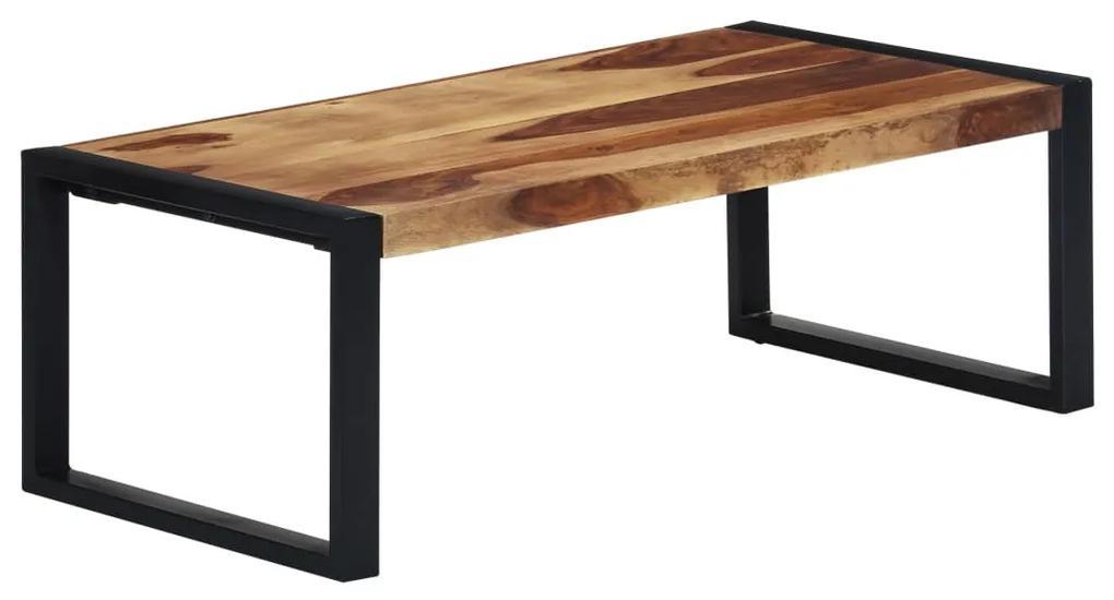 vidaXL Konferenčný stolík 110x60x40 cm masívne sheeshamové drevo