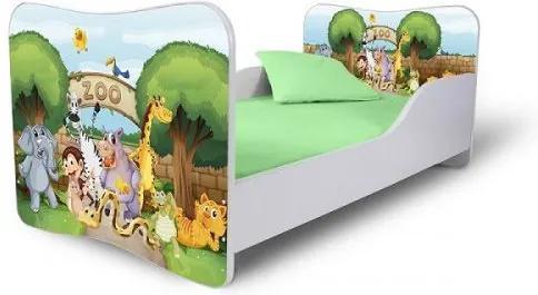 MAXMAX Detská posteľ ZOO + matrac ZADARMO 180x80 pre všetkých NIE