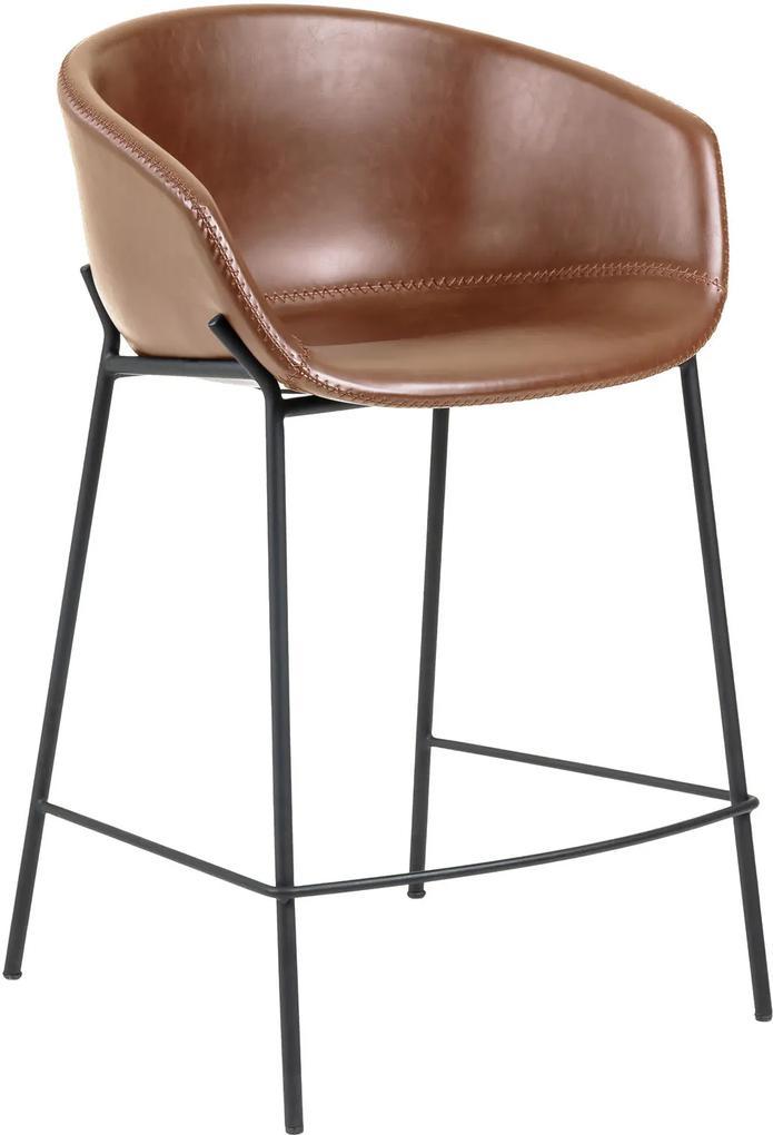 LAFORMA Hnedá barová stolička Zadine