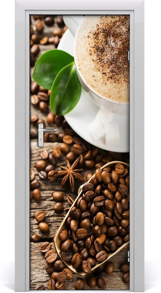 Samolepící fototapeta na dveře Káva