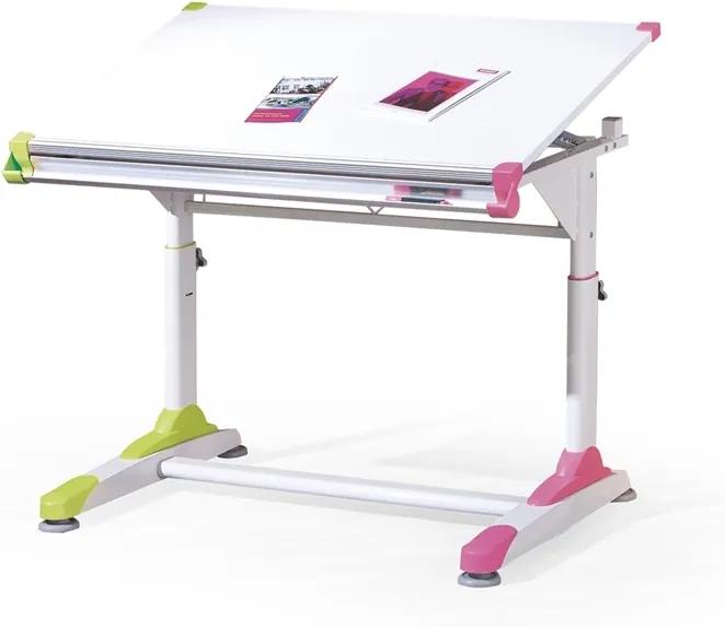 HALMAR Collorido detský písací stôl biely lesk / biela