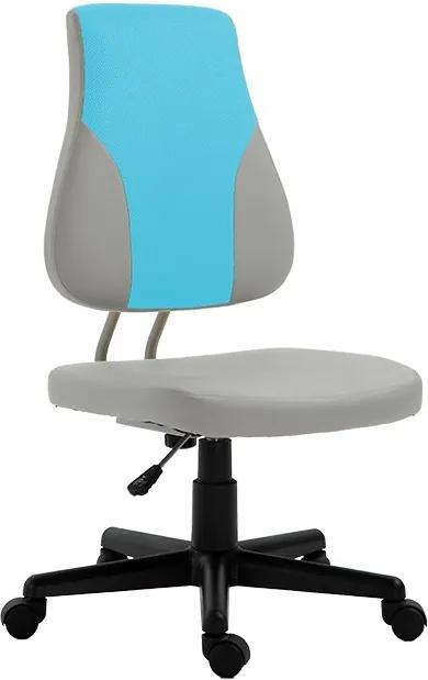 TEMPO KONDELA Randal detská stolička na kolieskach sivá / modrá / čierna