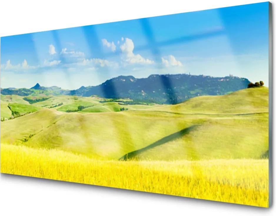 Skleněný obraz Dedina Hory Príroda
