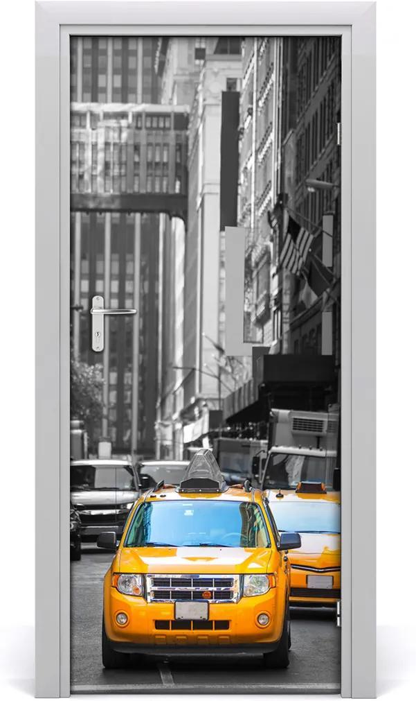 Fototapeta samolepící dveře Taxi new york