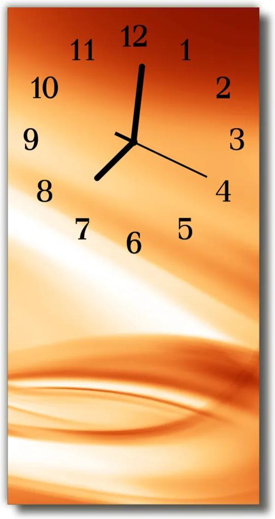 Nástěnné hodiny vertikální Abstraktní oranžová grafika